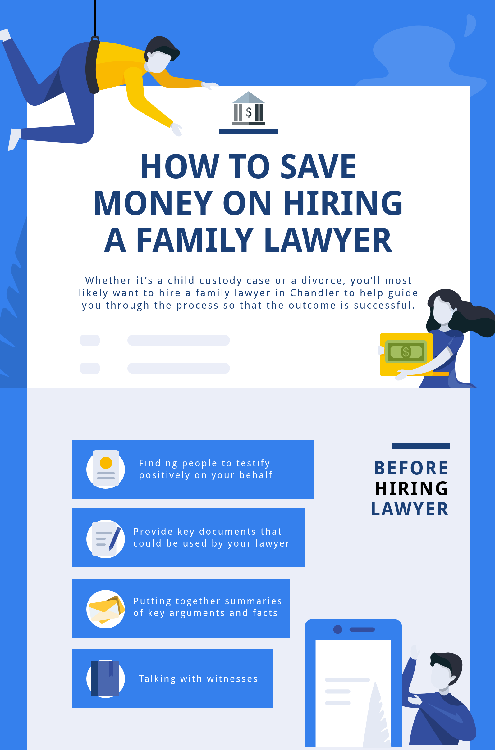 How to Save Money on hiring Chandler, Arizona Family Lawyer